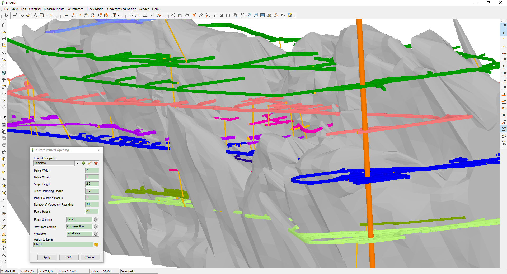 The software solution for underground design